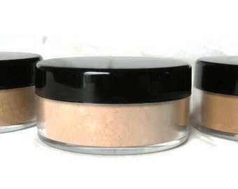 Mineral Foundation, One 10 gram Jar; Vegan, Non-Nano, Petroleum-free Pigments; Non-GMO, Hand-milled in California for All Skin Types