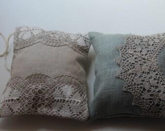 Set of 2 Scented Drawer Sachets - Natural Lavender Aroma Sachet and Natural Peppermint Aroma Sachet