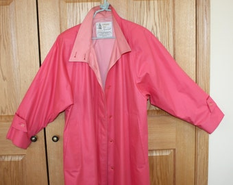 Pink London Fog Maincoats, size 6 regular, weatherwear of distinction, made in USA