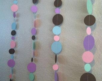 Baby Shower multi colored Confetti Garland