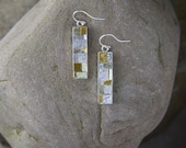 Mosaic Earrings: 24 Karat Gold & Silver