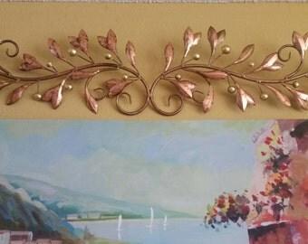 """45"""", Wall Scroll, Wall Scroll Metal Art, Copper Gold Leaf Scroll, Decorative Wall Scroll, Metal Scroll, Wall Art, Metal Wall Decor, Wall Art"""