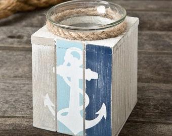 Rustic Nautical Candle Anchor Bomboniere Bonboniere / Baptism / Christening / Wedding / Favor