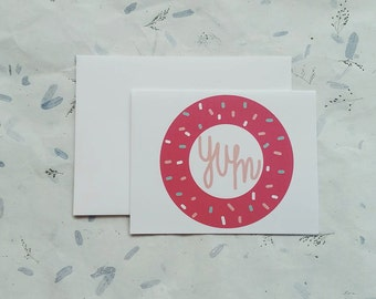 IMPERFECT PRINTING donut card