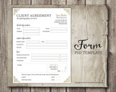 Client Agreement Form for Photographers - Photography Business Forms - Photographer Client Contract Agreement - INSTANT DOWNLOAD