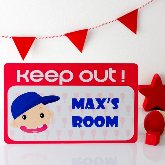 Keep Out Sign Personalized Sign Kids Door Signs By Mirrorin