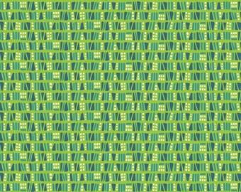 1 yard SUNDALAND JUNGLE  by Katy Tanis for Blend Fabrics Dots & Dashes Green