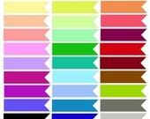 50% OFF SALE Ribbon Banner Clipart, Banner Ribbon Clip art, Clipart Labels, Scrapbook, Digital Banners, Ribbon Graphic, Invitations, Downloa