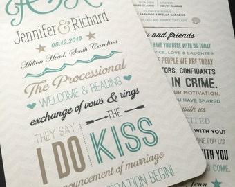 Destination Wedding Program Fans; multiple designs available