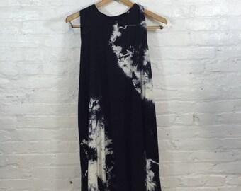 Hand dyed silk dress