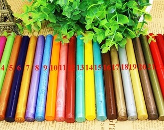 Sealing Wax Round Stick - Seal Wax - Stamp Wax - Compatible with Sealing Wax Gun - 24 Colors to Choose From