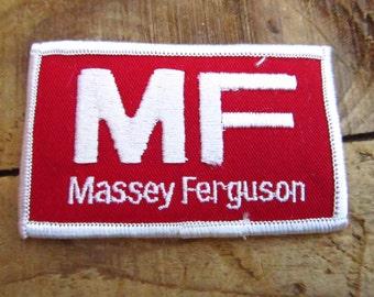 Vintage Massey Ferguson Tractor Patch - Massey Ferguson Advertising Patch - Massey Ferguson Farm Equipment