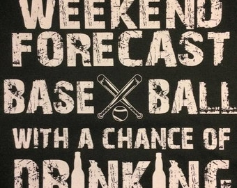 Weekend Forecast Baseball With A Chance Of Drinking Men's Shirt
