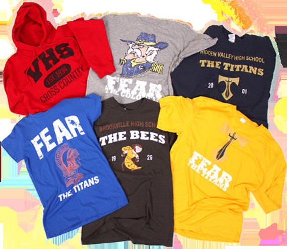 Create your own spirit wear t shirts personalized and custom for Custom high school shirts