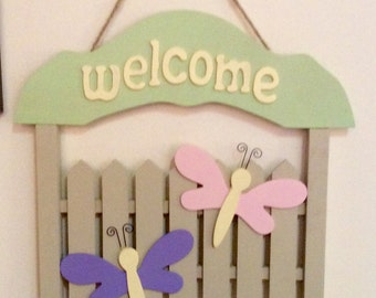 Fence Welcome Sign