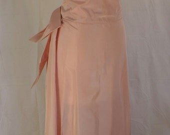 Salmon pink formal Taffeta dress