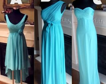 Aqua bridesmaid dress, miss match bridesmaid dress, mint blue bridesmaid dress
