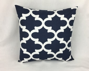 Floor Cusion Cover - Fynn Navy Blue Decorative Sofa Pillows Covers - Designer Covers - Moroccan Pillow Covers