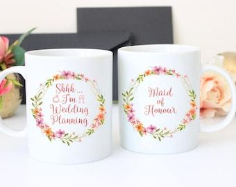 Maid Honour Wedding Planning Mug, Maid of Honour Mug, Maid of Honour Planning, Bride Wedding, Planning gift for Maid of Honour,