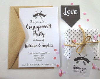 Engagement Party Invitations x 25 - EI02