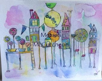 The village swings