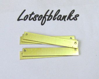 Bar Blanks with holes /Brass Blanks//1/4 x 1 3/4 -Stamping blanks//Metal blanks//necklace bar blanks//Stamping Supplies//pre punched blanks