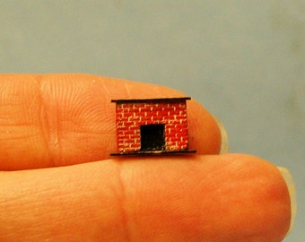 1/144th inch scale miniature-Brick Fireplace