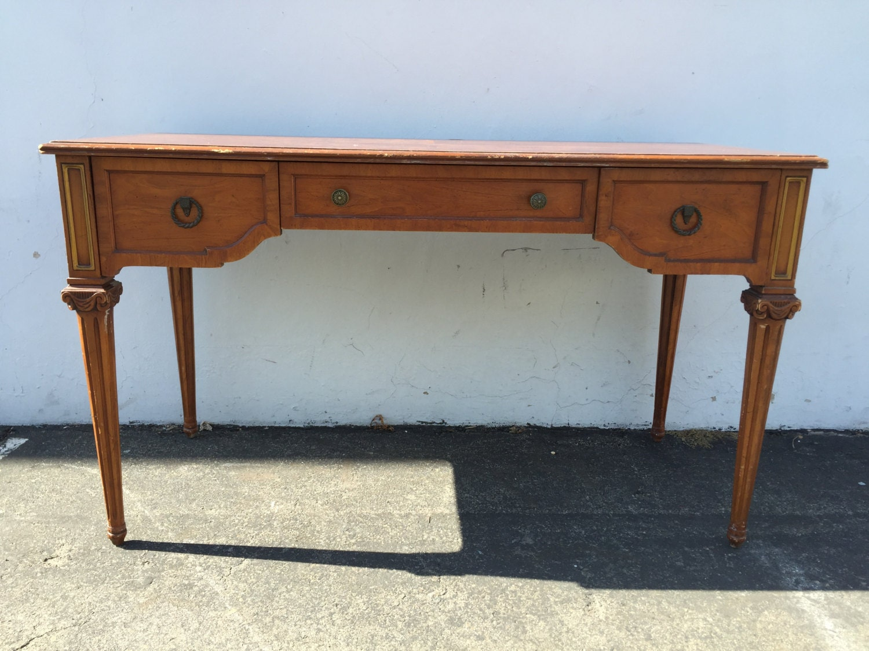 Henredon Writing Desk Empire Vintage Regency Mid Century