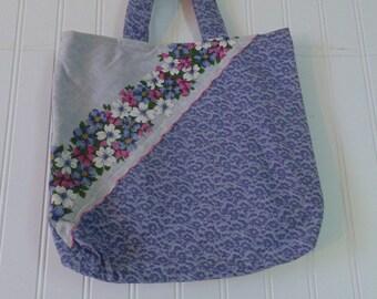 Vintage Tote Bag Upcycled Bag