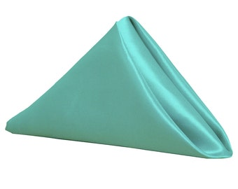 Turquoise Napkin for Weddings Pack of 10 | Wholesale Satin Napkins