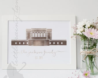 LDS Temple art - Mesa Temple - Printable - Customizable