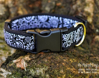 The Techie ribbon dog collar Sm-X-Large