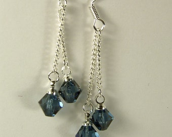 "Cynthia Lynn ""DAZZLE DROPS"" Sterling Silver Swarovski Crystal Drop Earrings - 16 Colors!"