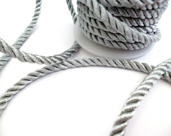 6 mm Silver Braided Fabric Cord_ PP0011478214_Cords_ Silver Braided_of 6 mm_ 8 meters_26 ft