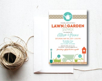 INSTANT DOWNLOAD couple's shower invite / lawn and garden shower / groom shower / printable invitation / wedding shower