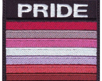 Lesbian Gay Pride  Badge Flag Embroidered  Patch