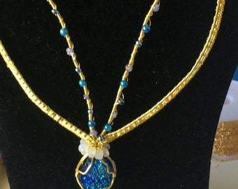Druzy  colar necklace