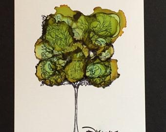 Painting Ink - Tree Top
