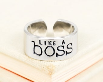 Like A Boss - Geekery - Adjustable Aluminum Ring