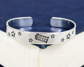 Tardis Bracelet - Doctor Who - Adjustable Aluminum Bracelet
