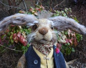 Needle felted march hare.