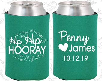 Teal Wedding, Can Coolers, Teal Wedding Favors, Teal Wedding Gift, Teal Party Decorations (232)