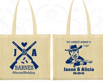 Shotgun Wedding Bags, Customized Cotton Bags, Country Wedding Bags, Redneck Wedding Bags, Personalized Tote Bags (563)