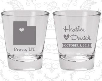 Utah Shot Glass, Utah Shot Glasses, Utah Glass, Utah Glasses, Utah Glassware (143)