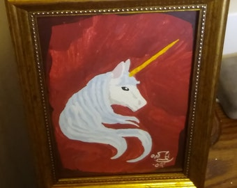 Unicorn Acrylic Painting