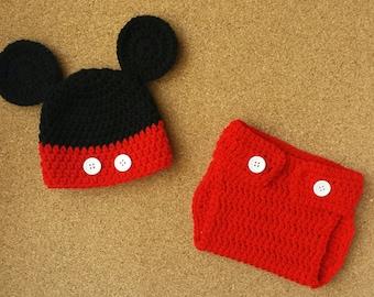 Newborn Mouse Hat & Diaper Cover