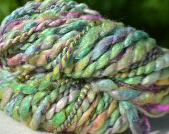 Skein of yarn spun at the spinning wheel