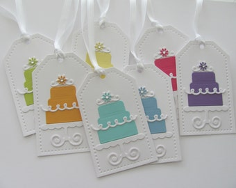 Happy Birthday Gift Tags, Birthday Favor Tags, Birthday Cake Tags, Cake Gift Tags, Birthday Party Tags, Favor Tags, Wedding Cake Tags, Tags