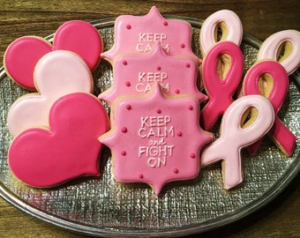 Breast Cancer Awareness ~ Susan G. Komen ~ Custom Cookies - 1 Dozen!