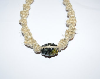 mens hemp necklace etsy